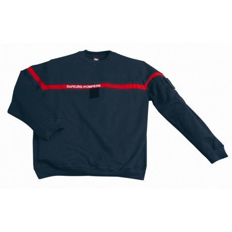 Sweat-shirt sapeurs-pompiers Marine