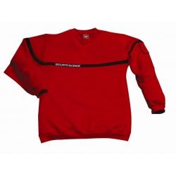 Sweat-shirt sécurité incendie rouge